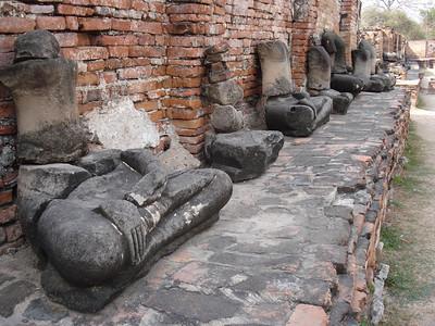 Buddha Ruins Wat Mahathat, Ayuthaya - Thailand.