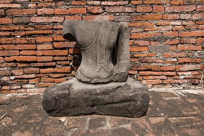 A headless Buddha statue in Ayutthaya, Thailand