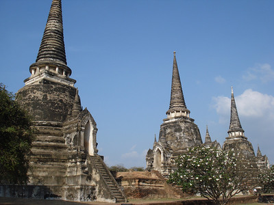 Wat Phra Si Sanphet Stupas, Ayuthaya - Thailand.