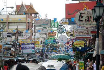 Khao San Road Sign in Bangkok, Thailand