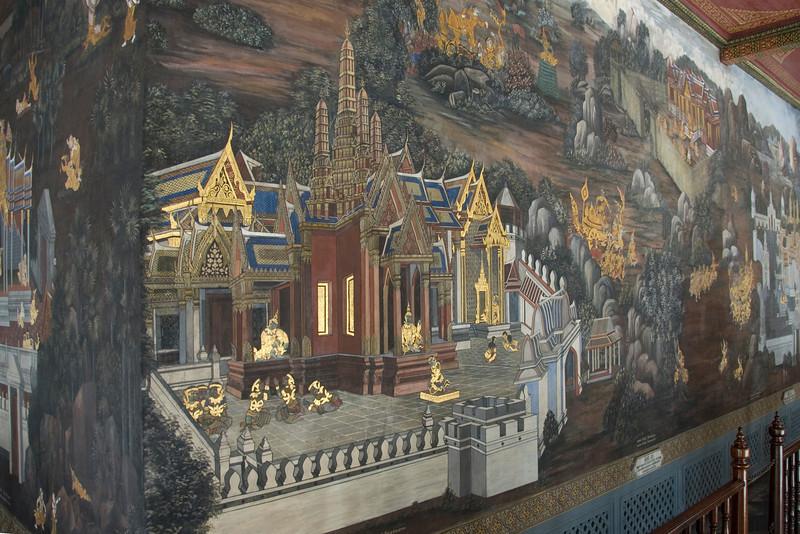 Fresco inside Wat Phra Kaew  - Bangkok, Thailand