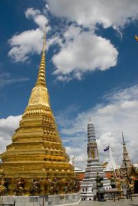 Stupas inside Wat Phra Kaew- Bangkok, Thailand