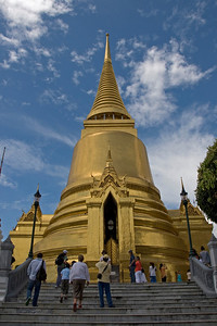 Golden pagoda inside Wat Phra Kaew -Bangkok, Thailand