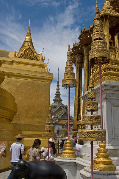 Beautiful Buddhist designs at Wat Phra Kaew - Bangkok, Thailand