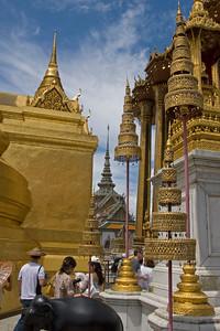 Beautiful Buddhist designs at Wat Phra Kaew - Bangkok, Thailand