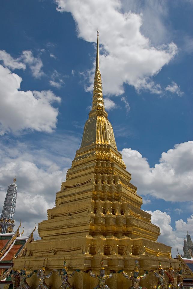 Pagoda with stupa in Wat Phra Kaew - Bangkok, Thailand