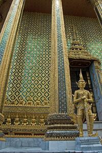 More miniature Buddha statues in Wat Phra Kaew - Bangkok, Thailand