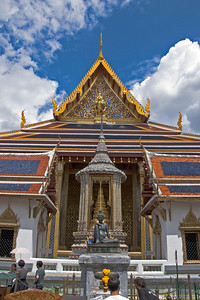 Buddha shrine inside Wat Phra Kaew - Bangkok, Thailand