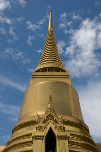 Looking up the stupa in Wat Phra Kaew - Bangkok, Thailand