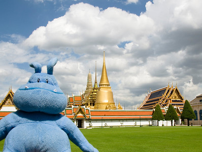 Skull in Wat Phra Kaew - Bangkok, Thailand