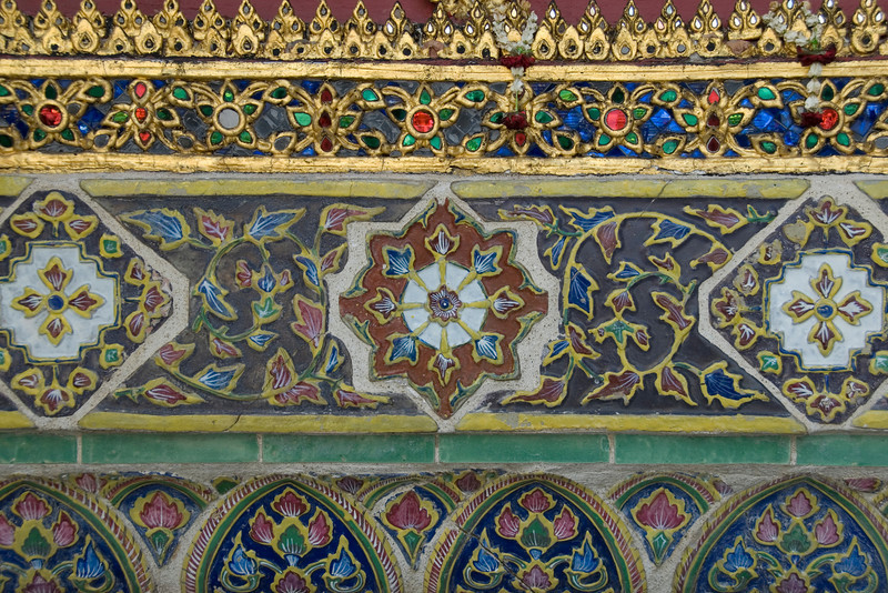 Close-up shot of artwork inside Wat Phra Kaew  - Bangkok, Thailand