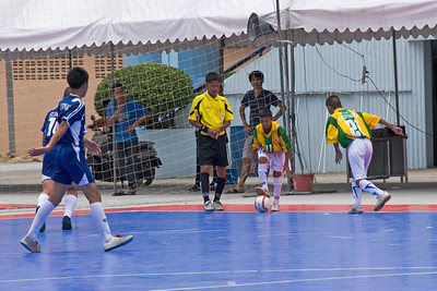 Ongoing soccer game in Bangkok, Thailand