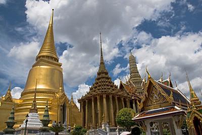 Stupas and towers in Wat Phra Kaew - Bangkok, Thailand