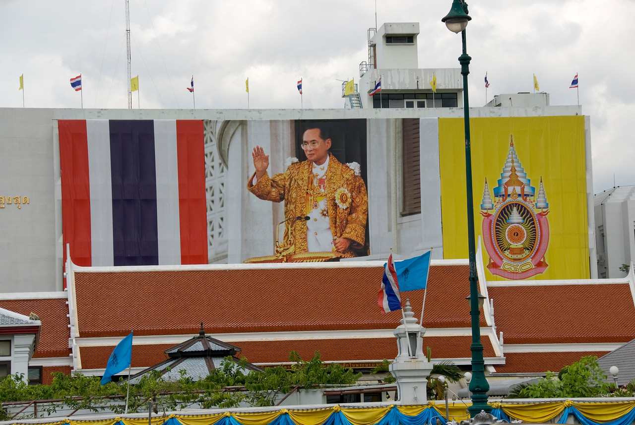 Poster of King spotted in Bangkok, Thailand
