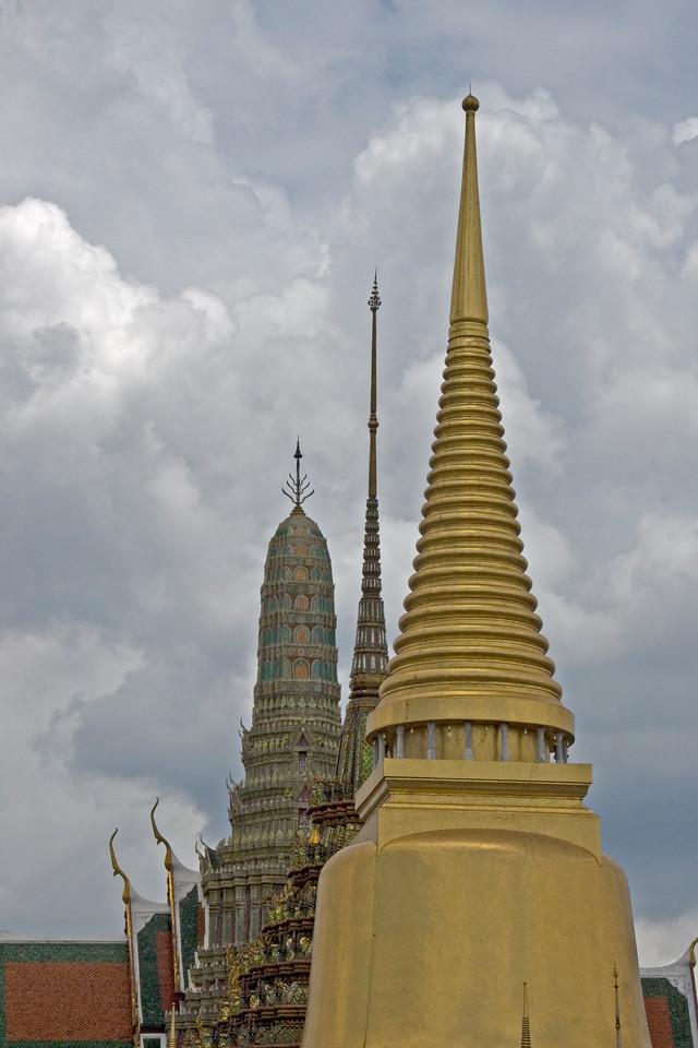 Stupas inside Wat Phra Kaew - Bangkok, Thailand