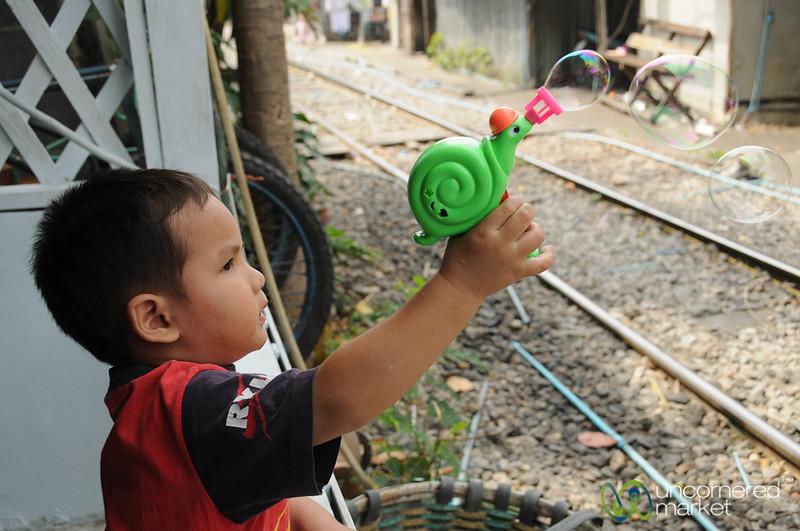 A Bubble Making Machine - Yommarat, Bangkok