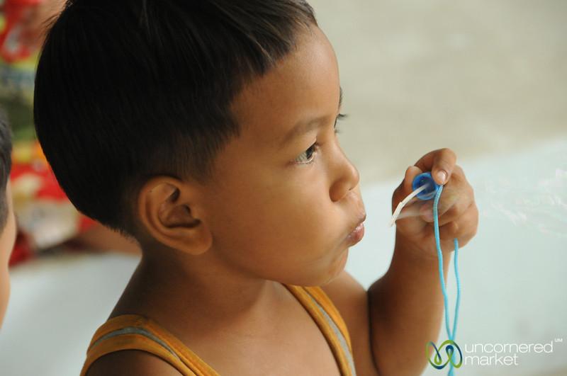 Blowing Bubbles - Bangkok, Thailand