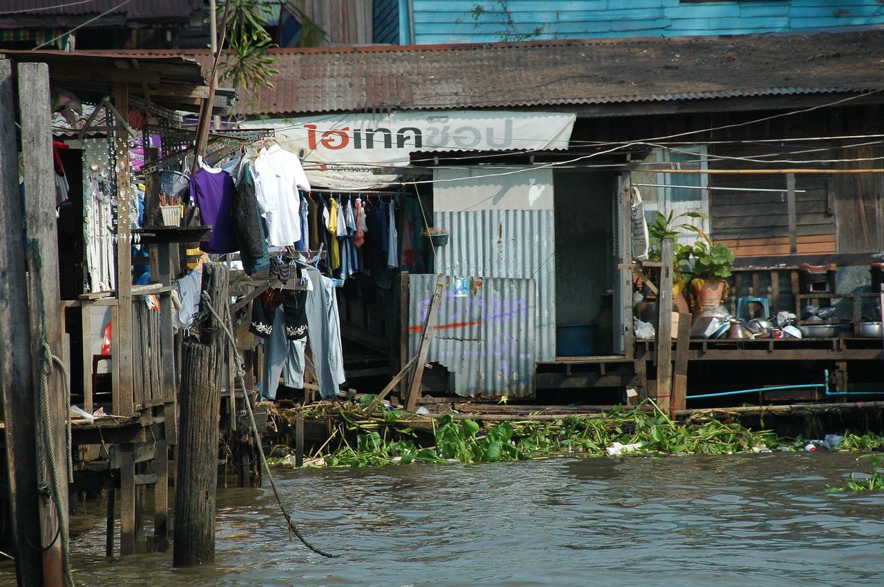 Laundry on the Canals - Bangkok, Thailand