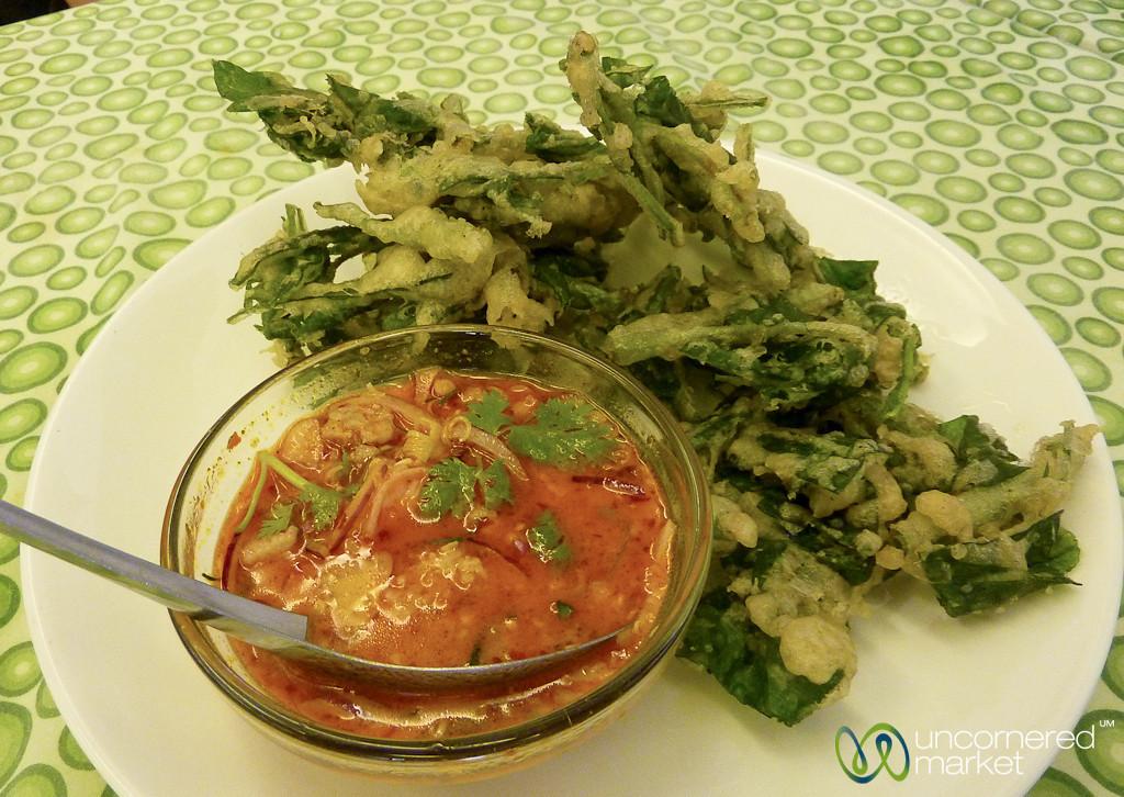 Fried Morning Glory & Spicy Sauce - Bangkok, Thailand