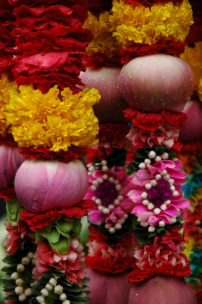 Flowers at Hindu Temple - Bangkok, Thailand