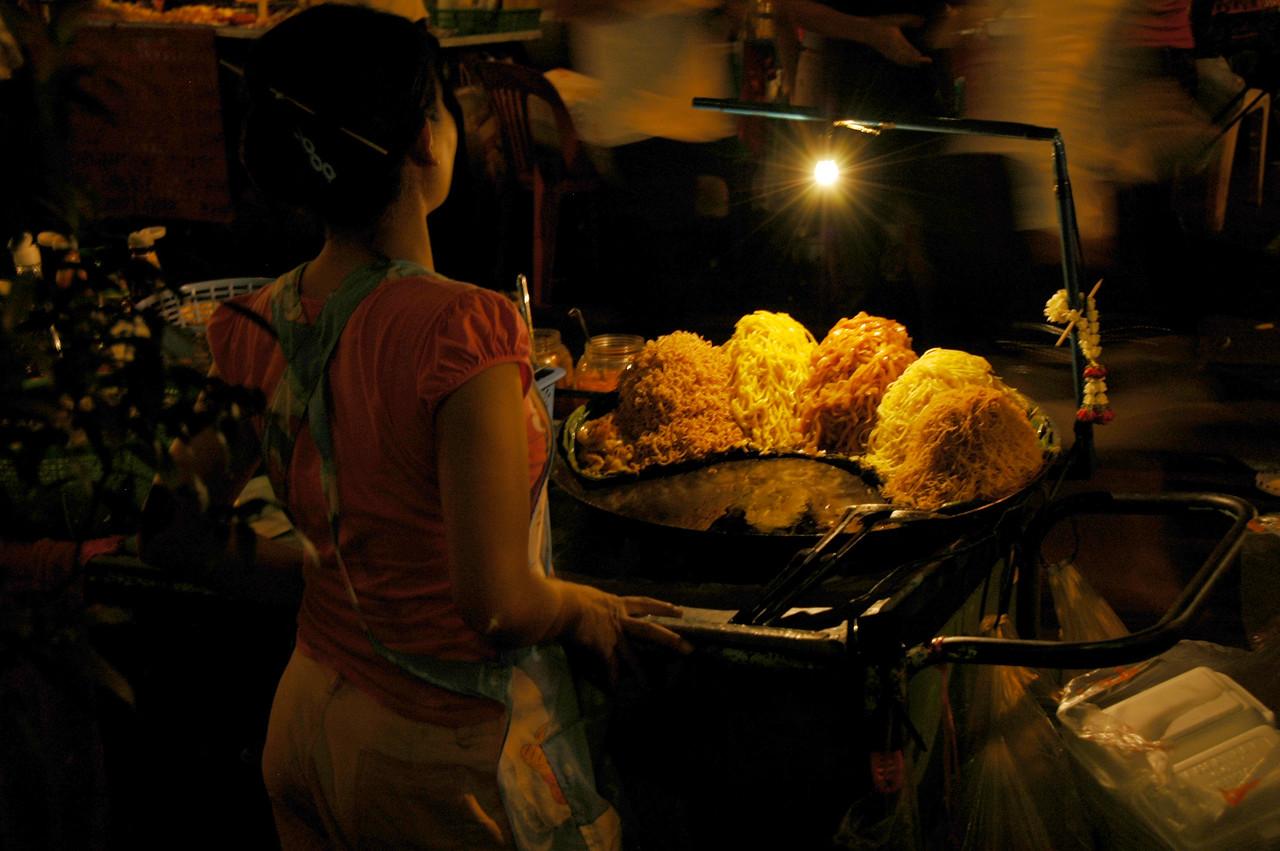 Pad Thai at Night - Bangkok, Thailand