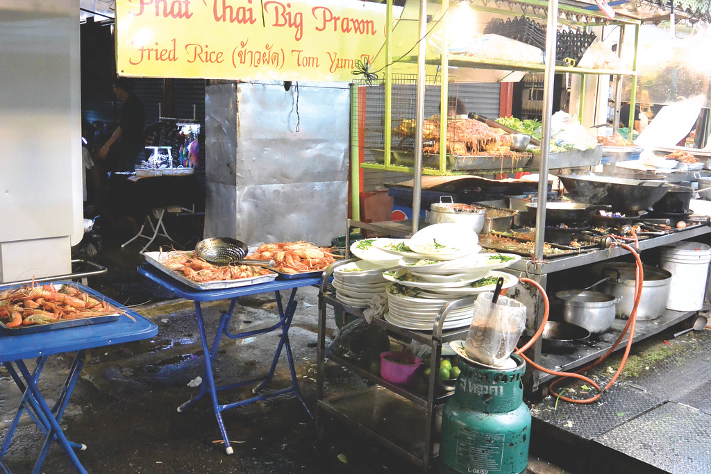 Prawns at Chatuchak Market. October 2014