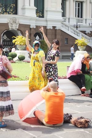 Grand Palace tourists. October 2014