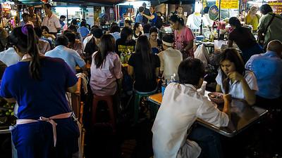 Animated Chinatown of Bangkok at night.