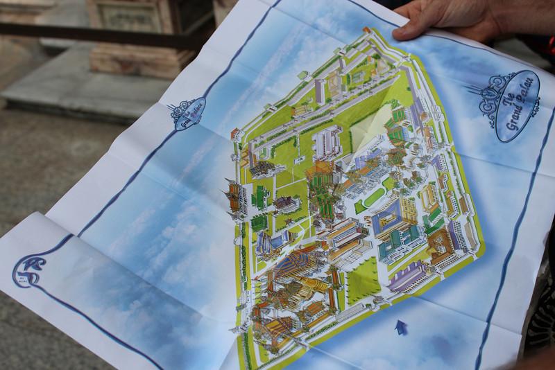 Bangkok's Grand Palace Map