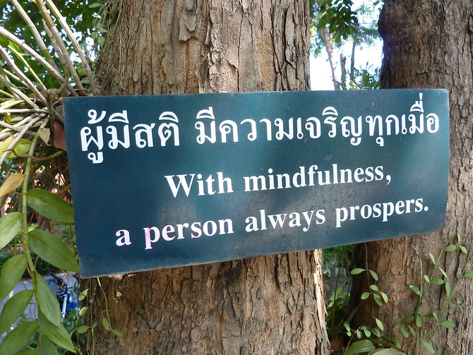 With mindfulness, a person always prospers