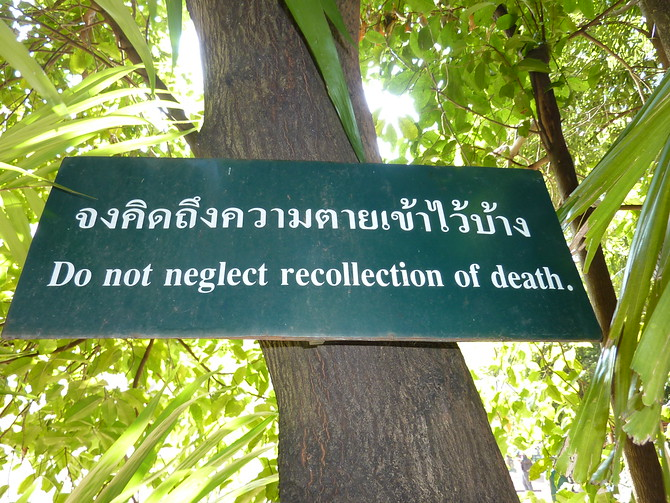 Do not neglect recollection of death