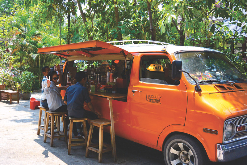 Coffee van. April 2015