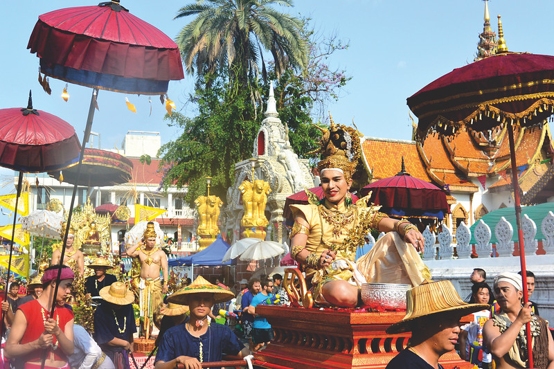 Songkran parade. April 2015
