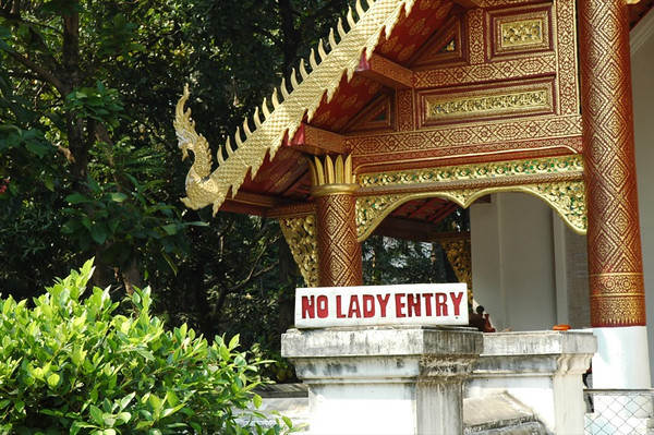 Ladies Not Allowed Sign - Chiang Mai, Sign