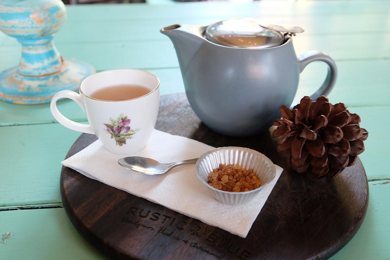 Coconut Chai tea at Rustic & Blue