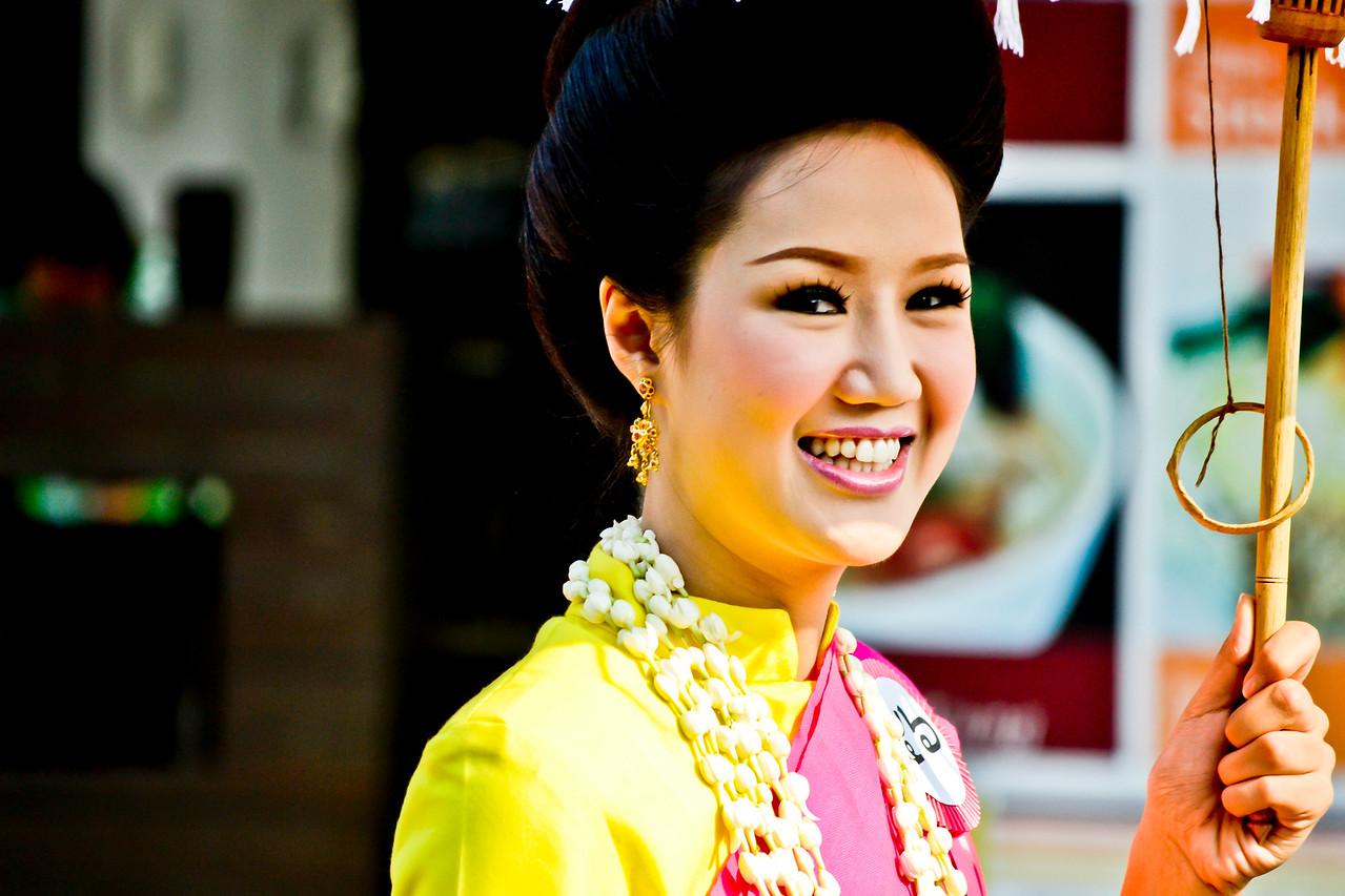 Thai women during Sonkran