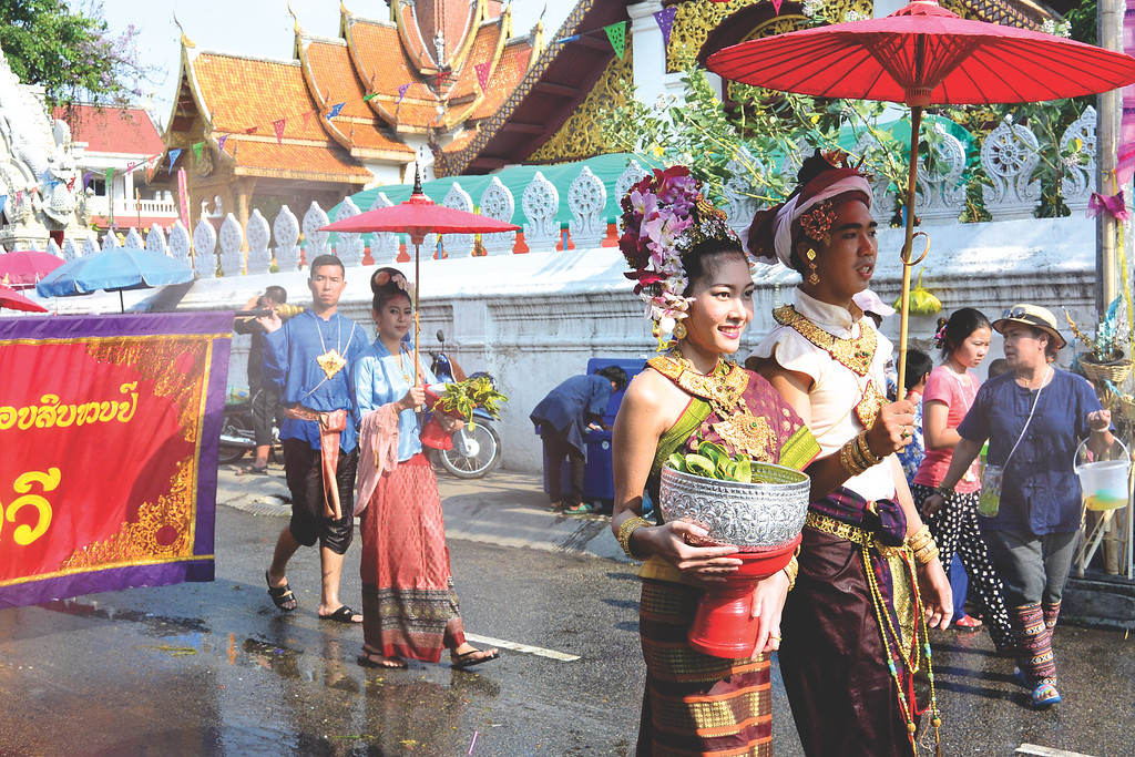 Songkran parade. April 2015