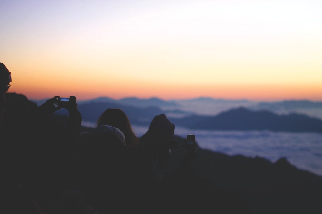 Sunrise view of Phu Chi Fah. December 2015