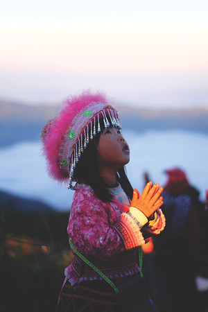 Hill tribe girl. December 2015