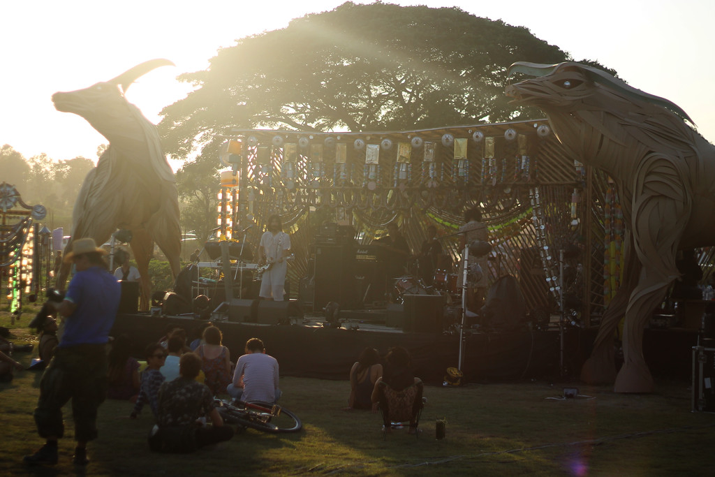 Stage art at Wonderfruit festival. December 2014
