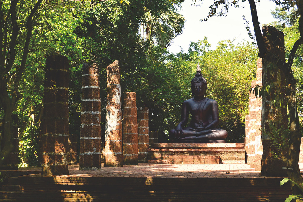 Buddha statue found during a field trip with my students. December 2014