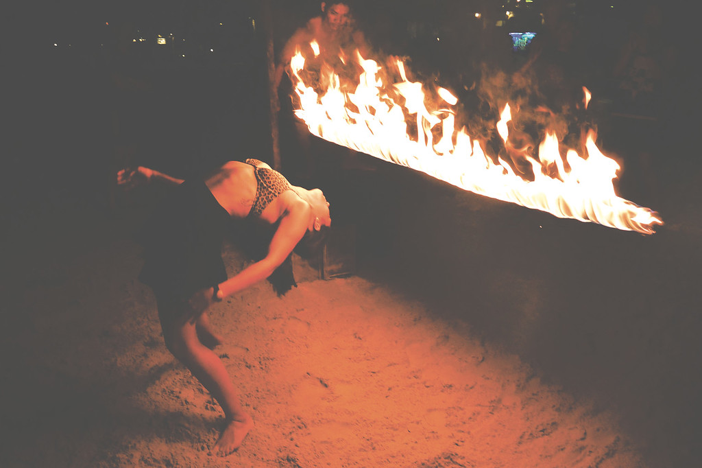 On every island, there is usually some kind of fire show every night. Koh Samet. November 2014
