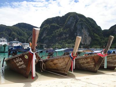 Ton Sai Bay Boats, Koh Phi Phi Don - Thailand.