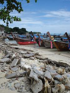 Concrete rubble post tsunami, Koh Phi Phi Don - Thailand.