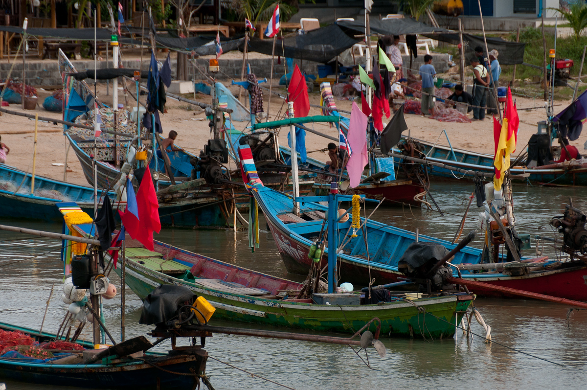 Fishing boats in Ko Samui, Thailand