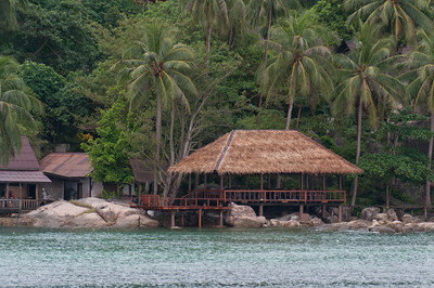 Wooden hut by the beach in Ko Samui, Thailand