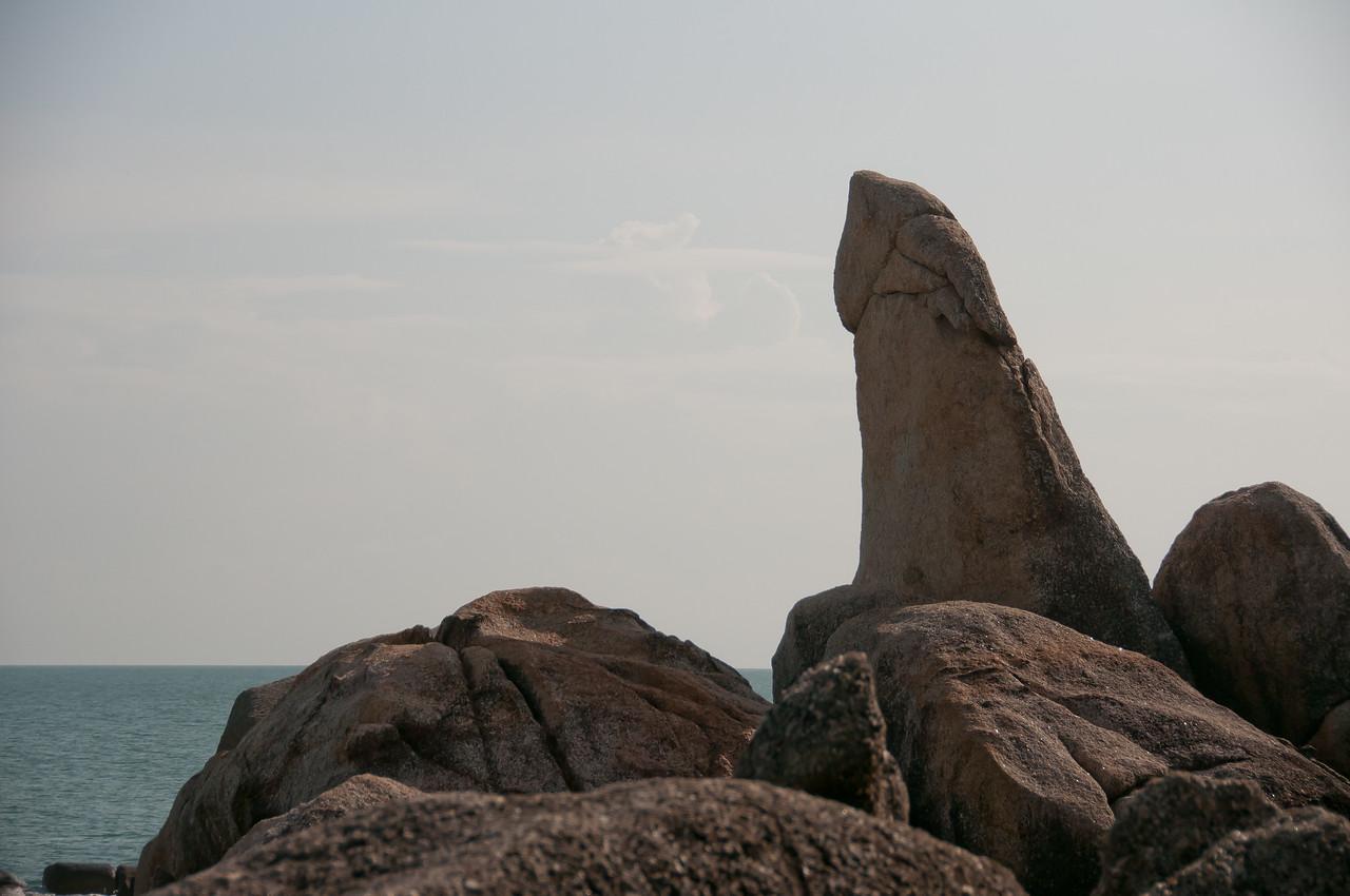 Closer look at rock formation in Ko Samui, Thailand
