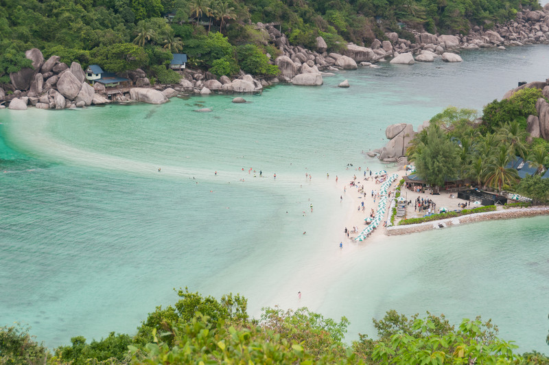 Beautiful island resort with sandbar and white sand beach - Ko Samui, Thailand