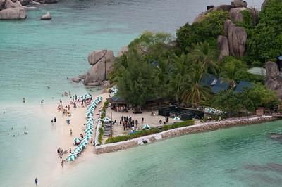 Pristine beach on a resort in Ko Samui, Thailand