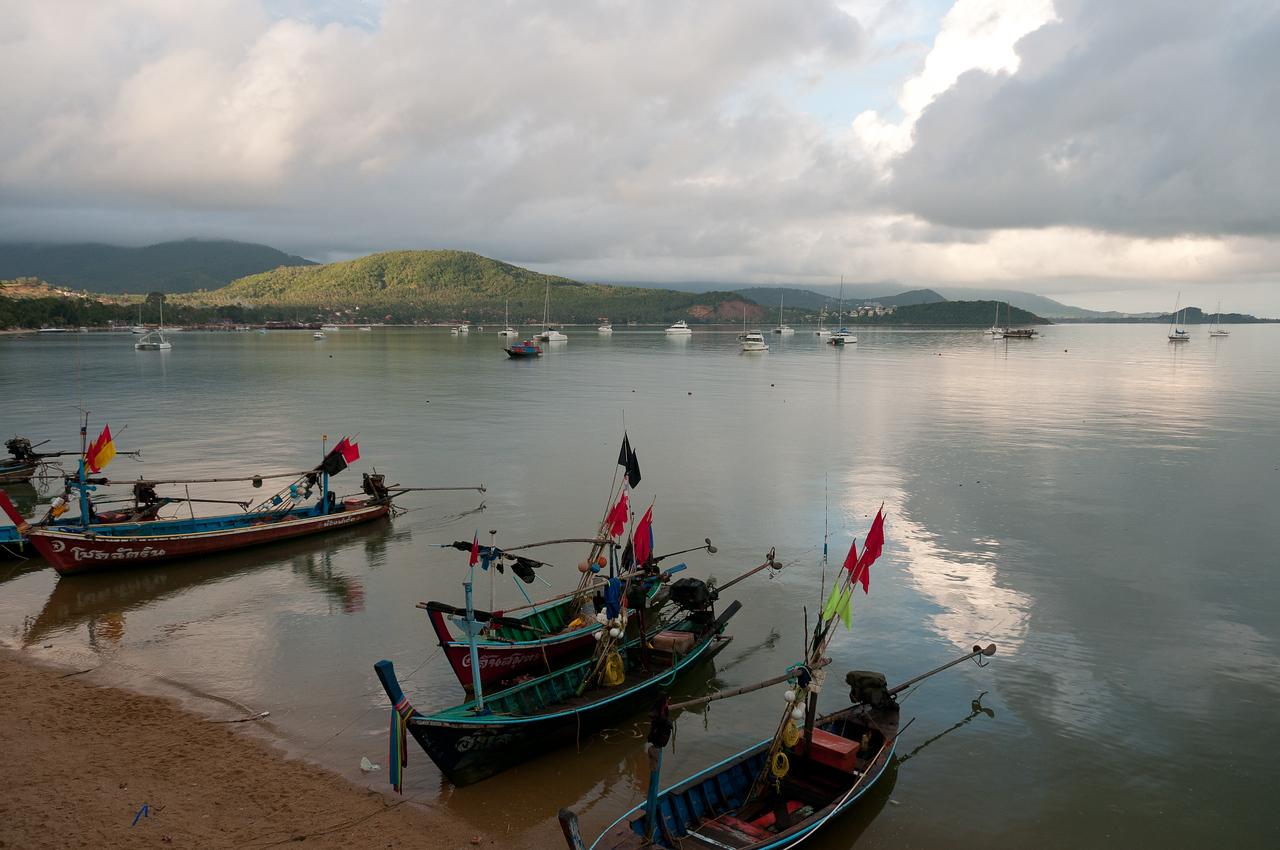 Fishing boats and yachts in Ko Samui, Thailand